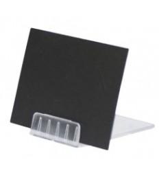 SECURIT laikiklis kreidinei lentelei 4x6x2cm 10 vnt. skaidrus