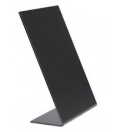 SECURIT kreidinė lentelė A6, 3 vnt., pastatoma, L formos, juoda