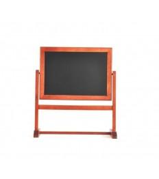 SECURIT stalo kreidinė lentelė Twister besisukanti 360°, 26x28x9 cm, raudonmedžio sp.