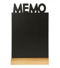SECURIT stalo kreidinė lentelė siluetas UŽRAŠINĖ 34,5x21x6 cm,  su mediniu pagrindu ir žymekliu