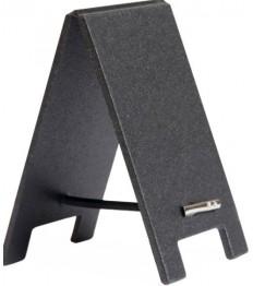 SECURIT kreidinės lentelės 8,5x5x0,5cm (5vnt.), juodos + žymeklis