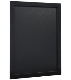 SECURIT kreidinė lenta (sieninė) 30x40x1,5 cm, juodos sp. mediniu rėmeliu