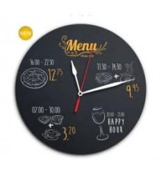 SECURIT kreidinis laikrodis ant sienos 29x29x1,5cm, su žymekliu