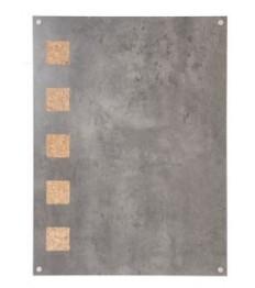 SECURIT kreidinė lenta (sieninė) 78x58x2,5 cm, kamštinė, pilka