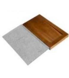 SECURIT knygutė sąskaitai su vieta monetoms 17,9x10x1,8cm, medinė, pilkos sp.