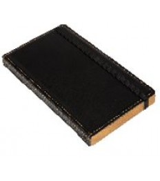 SECURIT knygutė sąskaitai su vieta monetoms 17,9x10x1,8cm, medinė, juodos sp.