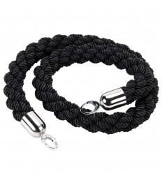 SECURIT užtvaros virvė 150x4x4 cm, juoda su chromuotu užsegimu