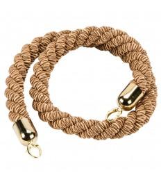 SECURIT užtvaros virvė 150x4x4 cm, auksinė su chromuotu užsegimu
