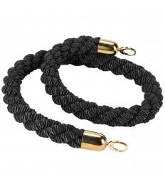 SECURIT užtvaros virvė 150x4x4 cm, juoda su auksinėmis detalėmis