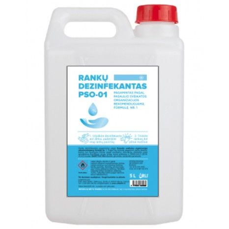 Rankų dezinfekantas PSO-01 5l, alkoholio pagrindu